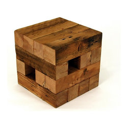 Koper Reclaimed Wood Table - Aside from the fact that it's made of reclaimed wood, the thing I love most about this table is that it reminds me of Jenga, which is one of my favorite games of all time!