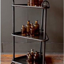 BoBo Intriguing Objects - BoBo Intriguing Objects 3-Tier Rolling Cart - Metal cart on casters by BoBo Intriguing Objects.