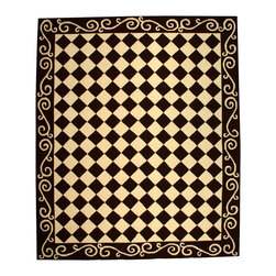 """Safavieh - Chelsea Rug, Brown/Ivory, 8' 9"""" x 11' 9"""" - 100% pure virgin wool pile, hand-hooked to a durable cotton backing. American Country and turn-of-the-century European designs. Th'scollection is handmade in China exclusively for Safavieh."""