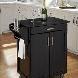 Shop cart with granite top kitchen islands carts on houzz Home styles natural designer utility cart