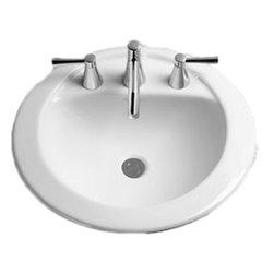 "Toto - Toto LT521.8 Sedona Beige Prominence Self-Rimming Lavatory 8"" Centers ADA - Toto LT521.8#12 Sedona Beige 21"" x 19"" Drop In Lavatory Sink"