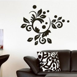 Crearreda Romantic Bloom 3D Foam Wall Decals - Create an elegant, sophisticated design on your wall with these Romantic Blooms Foam Wall Decals. These leaves, curls, and dots can be combined together in a variety of ways. Easy to apply, simply remove the 3-D foam stickers from the backing and press firmly to the wall. For best results apply the wall decals to smooth, flat surfaces only. Do not apply on freshly painted walls, wallpaper or any delicate surface. Stickers may be repositioned if necessary. Includes 25 stickers, sizes range from 1.5 to 20.25-inches.Please note this product does not ship to Pennsylvania.