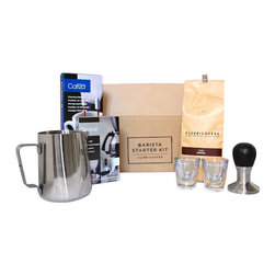 Home Barista Starter Kit - Not know where to start when beginning your home coffee brewing adventure? This kit has the aspiring coffee snob covered.