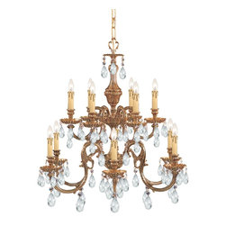 Crystorama - Crystorama Novella 2 Tier Chandelier in Olde Brass - Shown in picture: Ornate Cast Brass Chandelier Accented with Swarovski Elements Crystal; The Novella Collection's Olde Brass finish and ornate designs make this European series a perfect fit for any traditionalist.