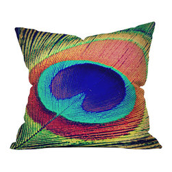 DENY Designs - DENY Designs Shannon Clark The Eye Outdoor Throw Pillow, 18x18x5 - Do you hear that noise? It's your outdoor area begging for a facelift and what better way to turn up the chic than with our outdoor throw pillow collection? Made from water and mildew proof woven polyester, our indoor/outdoor throw pillow is the perfect way to add some vibrance and character to your boring outdoor furniture while giving the rain a run for its money. Custom printed in the USA for every order.