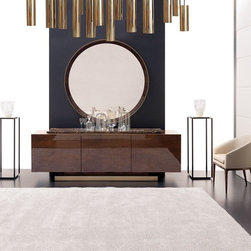 ILAND Collection - The sculptural lines and stunning materials of the Iland Collection will captivate those with a taste for the magnificent.  It is haute couture meets furniture design.