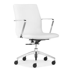 ZUO MODERN - Herald Low Back Office Chair White - Herald Low Back Office Chair White