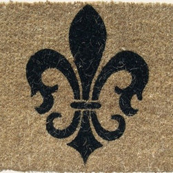 "CocoMatsNMore - CocoMatsNMore Fleur De Lis Symbol Coco Doormats - 18"" X 30"" - Eco-friendly Coco Mat are hand-woven and  made from 100% natural coir . These coco doormats are designed to last for a long time and are easy to maintain and clean by either shaking or hosing it down. Designed with fade-resistant dyes they are durable enough to withstand the harshness of weather and look good througout the year. Furthermore, they keep your house clean by doing a fabulous job of trapping the dirt, mud and debris right at the doorstep."