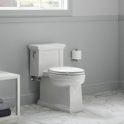 Tresham One-Piece Toilet - The elegant simplicity of Shaker-style furniture inspires the edgy, neo-traditional design of the Tresham collection. The Tresham Comfort-Height one-piece toilet is accented by an elegant trim that recalls architectural molding and offers an eclectic twist on classic Americana traditions. Complements the Tresham collection as well as a variety of styles from classic to modern.