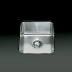 """KOHLER - KOHLER K-3330-NA Undertone Medium Squared Undercounter Kitchen Sink, 9-1/2"""" Deep - KOHLER K-3330-NA Undertone Medium Squared Undercounter Kitchen Sink, 9-1/2"""" Deep"""