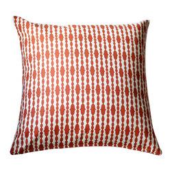 Modern Organic Pillow - Raindrops Mandarin - 18x18 Throw Pillow Cover made from Swanky Swell Organic Fabric