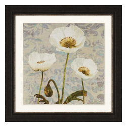 Paragon - Damask Blooms VI - Framed Art - Each product is custom made upon order so there might be small variations from the picture displayed. No two pieces are exactly alike.