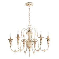 "Quorum International - Quorum 6316-6-70 Salento 25""/6Lt Chandelier -Pw - Quorum 6316-6-70 Salento 25""/6LT Chandelier -Pw"