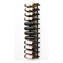 VintageView® 24 Bottle Wall Mounted Wine Rack in Satin Black - Create a wall wine rack system anywhere. These metal wine racks are slightly taller than the WS3 Series, but equally decorative and versatile. Showcase your wine, not the racks. We are proud to be the best dealer of VintageView products in America, and we back our position with unsurpassed customer service.