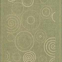 """Safavieh - Safavieh Courtyard CY1906-1E06 8' x 11'2"""" Olive, Natural Rug - Safavieh's Courtyard collection was created for today's indoor/outdoor lifestyle. These beautiful but practical rugs take outdoor decorating to the next level with new designs in fashion-forward colors and patterns from classic to contemporary. Made in Turkey with enhanced polypropylene for extra durability, Courtyard rugs are pre-coordinated to work together in related spaces inside or outside the home."""
