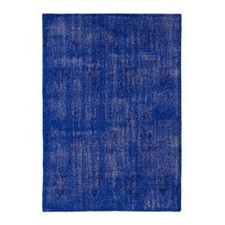 Kaleen - Contemporary Restoration 2'x3' Rectangle Blue Area Rug - The Restoration area rug Collection offers an affordable assortment of Contemporary stylings. Restoration features a blend of natural Blue color. Hand Knotted of 100% Wool the Restoration Collection is an intriguing compliment to any decor.