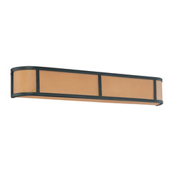 Aged Bronze Energy Star 4 Light Wall Sconce With Parchment Glass - Condition: New - in box