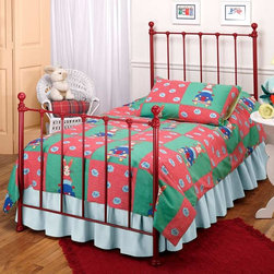 "Hillsdale Furniture - Twin Metal Bed in Red - Bed times will be a pleasure when your child goes to bed in this lovely metal framed twin bed. This bed will look perfect in any bedroom, whether it's your room, your children's room or the guest room. Bed times will be a pleasure when your child goes to bed in this lovely metal framed twin bed. This bed will look perfect in any bedroom, whether it's your room, your children's room or the guest room.. Twin: Duo Panel: 39.5"" W x 48.5"" H. Full: Duo Panel: 54.5"" W x 48.5"" H"