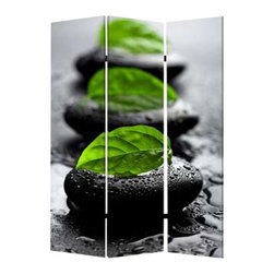 Spa Screen - The little rock fountains at your spa can do one of two things: They can relax you or they can constantly make you want to go to the bathroom. If the former is the case, then this three-panel screen will go well in your home.