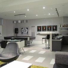 Contemporary Family Room by Dochia Interior Design