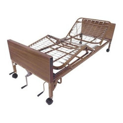 Drive Medical Manual Hospital Bed with Rails and Mattress