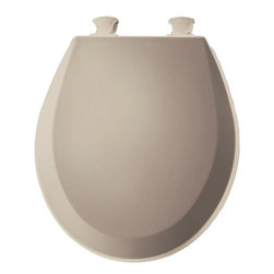 BEMIS - BEMIS Seats Lift-Off Round Closed Front Toilet Seat in Fawn Beige 500EC 068 - This Bemis Round Closed Front Toilet Seat is made from plastic which is smooth easy to clean and long lasting. The wrap-over cover design beautifully integrates your seat with your toilet bowl and the Whisper•Close feature prevents both the ring and cover from slamming. This lift-off toilet seat conveniently removes for cleaning and replacement. Simply twist the hinges and remove. Bemis Manufacturing Company prides itself on continuing to bring innovation value and environmentally friendly products to you. Color: Fawn Beige.