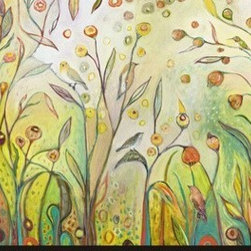 Artcom - Welcome to My Garden by Jennifer Lommers - Welcome to My Garden by Jennifer Lommers is a Stretched Canvas Print.