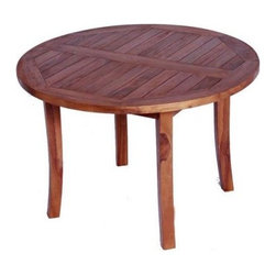 JazTy Kids Solid Teak Round Table - Designed to fit two to four children the JazTy Kids Solid Teak Round Table can be kept outdoors so your children can enjoy afternoon tea in the garden or brought indoors for eating or doing crafts. Crafted from solid teak this table has been stained with a golden teak oil finish which is applied directly to the wood with no chemical treatment. If left outdoors the wood will naturally age to a traditional patina or any commercial teak oil can be applied periodically to retain the finished stained teak look. Harvested from sustainable plantations in Indonesia craftsmen use tenon and mortise joinery techniques to construct this gorgeous bench. For extra durability and strength the construction is supplemented with the use of solid stainless steel rust-proof hardware. Designed to be used indoors or out your children will be using this table for their own children. All of JazTy products come with a 30 day satisfaction guarantee and a limited 4 year warranty. Some assembly required. Additional Features Hand crafted in Indonesia Stainless steel hardware Uses natural wood joinery techniques Durable teak wood withstands the elements Some assembly required 4-year limited warranty About JazTyJazTy is a small family owned business that was founded to provide quality solid wood hand-made heirloom-style furniture for children at moderate prices. Sourced from small Indonesian factories that take pride in their work all of JazTy's furniture is made from 100% solid hardwoods that are green-certified from sustainably harvested forests. All of JazTy's products are inspected by their own quality control staff so you can be assured that only the highest quality pieces are shipped.