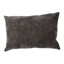 """Jaipur Rugs - Black color linen cotton luxe poly fill pillow 16""""x24"""" - The Luxe collection is affordable luxury in one small package. Luxe is offered in both a 20�x20� throw pillow and a lumbar size. Luxe is ultra-soft with a velvety texture and linen backing giving it an updated and sophisticated edge."""