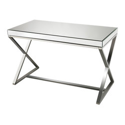 Sterling Industries - Sterling Industries 114-42 Klein-Mirror & Stainless Steel Desk - Desk (1)