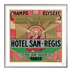 Studio Eight - HOTEL  SAN REGIS, Paris, Golden Age of Travel Vintage Art Restoration Series - HOTEL SAN REGIS, PARIS.