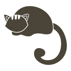 My Wonderful Walls - Napping Cat Stencil for Painting - - 2-piece napping cat stencil