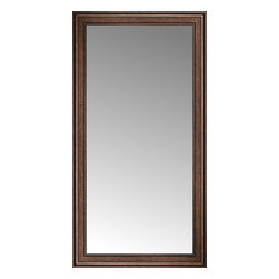 """Posters 2 Prints, LLC - 34"""" x 63"""" Arqadia Bronze Traditional Custom Framed Mirror - 34"""" x 63"""" Custom Framed Mirror made by Posters 2 Prints. Standard glass with unrivaled selection of crafted mirror frames.  Protected with category II safety backing to keep glass fragments together should the mirror be accidentally broken.  Safe arrival guaranteed.  Made in the United States of America"""