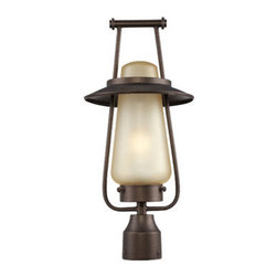 Designers Fountain - Designers Fountain FL32036 Stonyridge 1 Light Outdoor Post Light - Features: