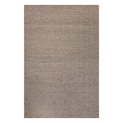 Jaipur Rugs - Naturals Tone-on-Tone Pattern Wool/ Hemp Taupe/Tan Area Rug ( 4x6 ) - A collection of tightly woven jute with wool and is patterned in simple geometrics.