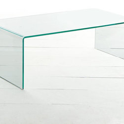 Glass Coffee Table - The French have long brewed the best coffee. Now they've inspired us with the design of this warm, inviting, relaxing coffee table. It's a 20th century design with rounded edges. Glass is nearly invincible, a near prerequisite for any table of this sort.