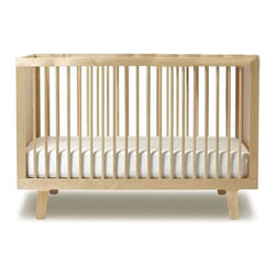 "Oeuf - Sparrow Crib in Birch - Oeuf believes that good design is for all ages and the Sparrow Collection is the epitome of this belief. At the center of the collection is the Sparrow Crib. Expertly crafted in Europe from solid birch, the Sparrow Crib sturdy, safe, and easy to assemble. The clean lines, subtle color, and modern European style ensure that this crib will please baby and parents alike. Features: -Meets or exceeds US and Canadian safety standards . -Constructed from solid birch. -Easy to assemble. -Standard full-size crib dimensions. -3-position mattress support. -Available in Birch. Specifications: -Dimensions: 36"" H x 54.25"" W x 30.25"" D. -Inside Dimensions (for crib mattress, not included): 52"" W x 28"" D. Please Note: Oeuf Products are not available for expedited shipping. Please call us for other options."