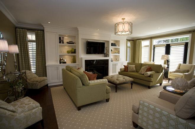 Contemporary Living Room by Jennifer Brouwer (Jennifer Brouwer Design Inc)