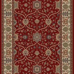 "Concord Global - Concord Global Jewel Voysey Red 3'11"" x 5'7"" Rug (4900) - Jewel collection is machine-made in Turkey using 100% heat-set polypropelene. These traditional to contemporary rugs will make a colorful addition to any area."
