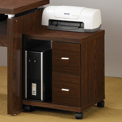 Coaster Oak Transitional File Cabinet Clean Lines And