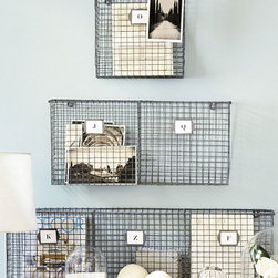 Ballard Designs - PE Collection Double Wall Pocket - I love the size of these wall pockets. You can put bills, papers, photos or magazines in them.