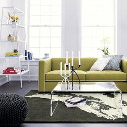peekaboo clear coffee table -