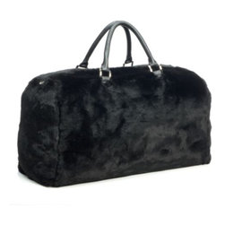 Z Gallerie - Natasha Fur Bag - Travel in style with our impossibly chic Natasha Fur Bag.  Aptly sized, making for a fitting overnight bag, our Natasha Fur Bag is equally perfect for weekend getaways. Layered in luxury, this bag is chicly embellished with faux fur and polished nickel detailing.   A heavy duty hidden zipper, three interior pockets and two handle straps makes for ease of use. Exclusive to Z Gallerie
