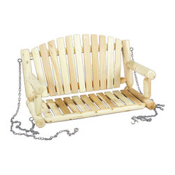 Rustic Natural Cedar - Rustic Natural Cedar 070026C Swing Seat Only w/ Chain 4' - While the hours away in our romantic porch swing made of natural Northern White Cedar. Traditional styling and a smooth-sanded surface make this swing a favorite. Known for its beauty, practicality, and durability, cedar is also naturally resistant to decay, insect, and weather damage. The hanging chain and coated hardware are included for easy installation.