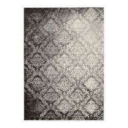 """Nourison - Kathy Ireland 9761 7'10"""" x 10'10"""" Santa Barbara Area Rug Collection - This collection's lush, trend-setting shag fabrications instill a sense of easy elegance and cozy intimacy. Made from 100% polypropylene and powerloom woven, these durable and easy-to-care for area rugs are gracious, glamorous and imbued with an unbelievably tempting tone and texture. 100% Polypropylene Powerloom Woven"""