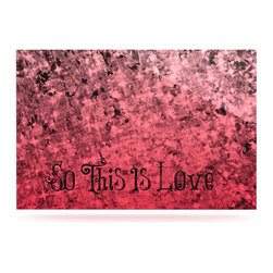 """Kess InHouse - Ebi Emporium """"So This Is Love"""" Pink Glitter Metal Luxe Panel (16"""" x 20"""") - Our luxe KESS InHouse art panels are the perfect addition to your super fab living room, dining room, bedroom or bathroom. Heck, we have customers that have them in their sunrooms. These items are the art equivalent to flat screens. They offer a bright splash of color in a sleek and elegant way. They are available in square and rectangle sizes. Comes with a shadow mount for an even sleeker finish. By infusing the dyes of the artwork directly onto specially coated metal panels, the artwork is extremely durable and will showcase the exceptional detail. Use them together to make large art installations or showcase them individually. Our KESS InHouse Art Panels will jump off your walls. We can't wait to see what our interior design savvy clients will come up with next."""