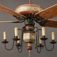 eclectic ceiling fans by Garbers Crafted Lighting