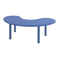 "ECR4Kids - Kids Half Moon Table - These colorful plastic tables are as sturdy and resilient as the hardwood or laminate furniture in the marketplace! Features: -Adjustable up to 1.25"".-Smooth, round edges.-Tabletop has a fade-resistant, thermoplastic construction of recyclable Polyethylene that will not crack, chip or peel.-Collection: Tables.-Hardware Finish: Resin.-Distressed: No.-Powder Coated Finish: No.-Gloss Finish: No.-Table Top Material: Plastic.-Table Base Material: Plastic.-Hand-Painted: No.-Number of Items Included: 1.-Non Toxic: Yes.-Weather Resistant: Yes -Weather Resistant Details: Weather resistant finish..-Water Resistant: Yes -Water Resistant Details: Water resistant finish..-Scratch Resistant: No.-Fade Resistant: Yes.-Chip Resistant: Yes.-Table Design: Writing Table.-Table Shape: Half-Circle.-Wheels Included: No.-Rounded Corners: Yes.-Table Legs: Yes -Number of Legs: 4.-Leg Glides: No..-Seating Included: No.-Table Top Organization: No.-Drawers Included: No.-Shelving Included: No.-Storage Features: No.-Cupholder: No.-Umbrella Included: No.-Chalkboard Included: No.-Whiteboard Included: No.-Easel Included: No.-Collapsible: No.-Minimum Age: 2.-Maximum Age: 9.-Outdoor Use: Yes.-Swatch Available: Yes.-Commercial Use: Yes.-Recycled Content: No.-Eco-Friendly: Yes.-Product Care: Provided in the assembly instructions.Specifications: -Green Guard Certified: Yes.Dimensions: -Table Width - Side to Side: 65.-Table Depth - Front to Back: 35.-Overall Product Weight: 36.Assembly: -Assembly required.-Assembly Required: Yes."