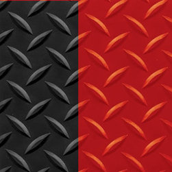 "buyMATS Inc. - 2' x 3' Diamond Foot 9/16"" Black/Red - Features:"