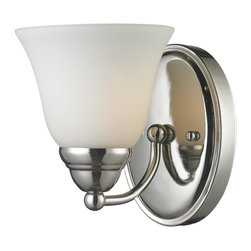 Z-Lite - Z-Lite Athena Bathroom Light X-V1-8012 - Clean, elegant lines and simple detailing partnered with a matte opal shade and a chrome finish bring a classic touch to this one light vanity lamp.